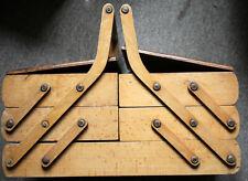 TRAVAILLEUSE de table en bois BOÎTE A COUTURE vintage