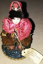 Vintage Doll hand sewn and painted, maiden in festive garments  RARE FIND