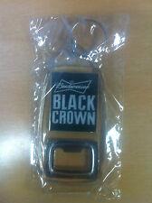 Budweiser Black Crown Bottle Opener Key Ring - NEW & Free Shipping