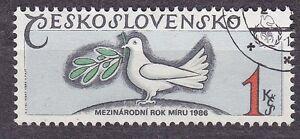 CZECHOSLOVAKIA 1986 USED SC#2592 Intl. Peace Year