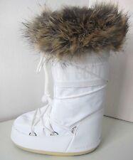 Tecnica MOON BOOT Romance weiß Gr. 31 - 34  Moon Boots Kunstfell Fell fake fur