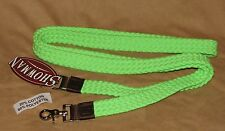Flat Braid Cotton Blend Western Barrel Roping Trail Rein New Horse Tack - LIME