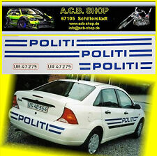 Ford Mondeo 2.0 POLITI Dinamarca 2002 coches de la policía del mundo 1:43 etiqueta Abziehbi