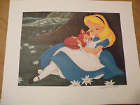 TWO (2) CAST EXC LITHOGRAPH NUMBERED SIGNED ALICE IN WONDERLAND & DUMBO LITHO