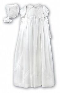 SARAH LOUISE LONG CHRISTENING DRESS & BONNET STYLE 160 IVORY 3MTH SALE