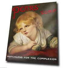 SIGNAL MÉTALLIQUE PLAQUE MURALE Vintage PEARS SOAP affiche publicitaire kitsch