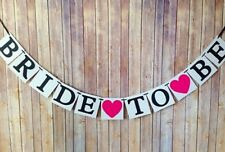 BRIDE TO BE BANNER BUNTING PINK HEART WEDDING | HENS PARTY ENGAGEMENT