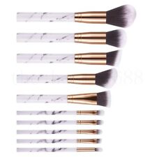 10pcs Marbling Kabuki Professional Make up Brush Set Brushes Blusher Face Powder