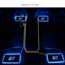 12V LED Car Interior Floor Mats Light Pad Atmosphere Lamp Decoration 7 Colors