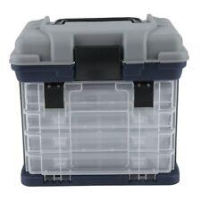Fishing Tackle Box Lures Storage Tray Bait Case Tool Organizer Bulk Drawer HL
