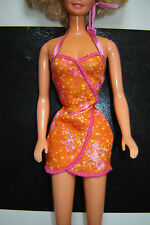 Sexy orange halterneck dress that fits Barbie