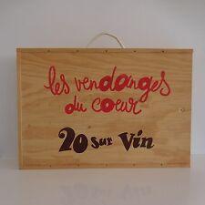 Coffret vin 6 bouteilles bois vintage art déco populaire design XXe PN France