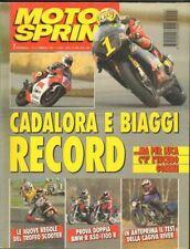 Motosprint anno 1995 n. 7 Febbraio CADALORA E BIAGGI RECORD
