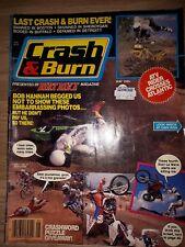 Crash And Burn Magazine may 1985 last ever edition. Dirt bike magazine