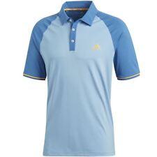 adidas Golf Mens 2018 Athletic Raglan Climacool Short Sleeve Polo Shirt Top XXL Ash Blue
