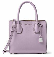 Michael Kors Studio Mercer Medium Lilac Pebbled Leather Satchel Messenger Bag