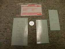 Walthers decals HO Specialties white Turntable yard faster slower etc  J22