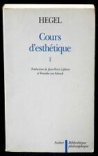 Hegel Cours d'esthétique I Aubier, Bibliothèque philosophique