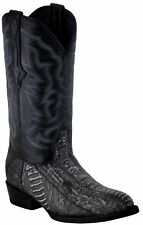 Mens Gray Real Ostrich Foot Exotic Skin Leather Cowboy Boots Western J Toe