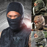 Camouflage Military Full Face Mask Outdoor Motorcycle Bike Balaclava Hats Helmet
