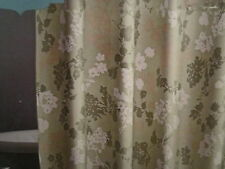 Green Floral Shower Curtain100% Cotton  Silhouette Shabby Botanical Home NEW