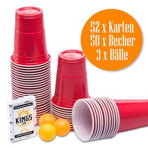 Rote Partybecher Red Cups Party Trinkbecher Einwegbecher + Partyspiel TRINKSPIEL