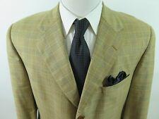 Brooks Brothers Golden Fleece Wool Glen Plaid Blazer Jacket Sport Coat 45 R EUC