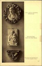 J. Löwy Wien 1908 Postkarte Liechtenstein`sche Gemälde-Galerie diverse Objekte