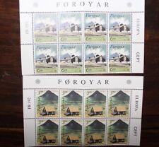 "FRANCOBOLLI STAMPS FOROYAR 1990 ""EUROPA CEPT"" MNH** BLOCK OF 8 SET (CAT.5)"