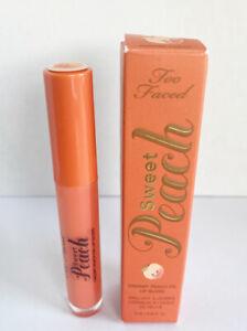 Too Faced Sweet Peach Poppin Peach Creamy Peach Lip Gloss ~NEW & BOXED~