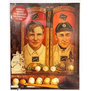 Christy Mathewson & Ty Cobb First Edition Montage Print - New, Sealed