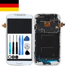 Für Samsung Galaxy S4 GT-i9505 LCD Display Touchscreen mit Rahmen in Weiß Weiss