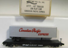N 1/160 ATLAS CANADIAN PACIFIC EXPRESS TOFC FLAT Freight CAR w/ Trailer NIB RTR