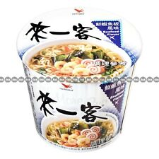 Taiwan One More Cup  Instant Noodles, Seafood Flavor,  Mini Cups, 63g x 1 cup