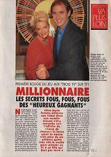 Coupure de presse Clipping 1992 Philippe Risoli  le Millionnaire  (3 pages)