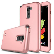 Hybrid TPU+PC Shockproof Armor Rubber Case Cover For LG G Stylo 2/Stylus 2 Plus!