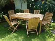 Windsor's Premium Grade A Teak Dining Set, 71 x 35 Rect Table/ 6 Folding Chairs