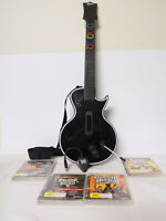 Like New Ps3 / PC Clone Guitar Hero Gibson Les Paul Wireless Controller 4 Games