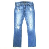 Buckle Flying Monkey Womens 26 Blue Jeans Platinum Straight Leg Distressed Rips