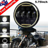 """5-3/4"""" 5.75 inch LED Projector Headlight Halo w/DRL Fit for Harley Davidson Dyna"""