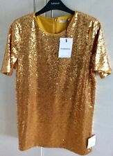 Topshop (Glamorous), Gold Sequined T Shirt Dress, Medium. Brand New with tags