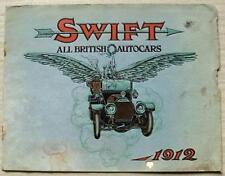 SWIFT CARS 7HP & 8HP Car Sales Brochure 1912 DE LUXE & TORPEDO