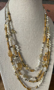 Gorgeous SUNDANCE CATALOG Necklace PEYOTE BIRD Sterling, Pearl, tiger eye!