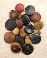 20 VTG TAGUA NUT / VI BUTTONS PRESSED PATTERNED TINTED RED