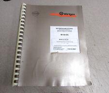 Wirtgen W50DC Instruction Manual 179132.0007