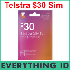 NEW TELSTRA PREPAID $30 SIM CARD STARTER PACK KIT 3G 4G MOBILE MULTI FIT TRI SIM