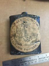 ANTIQUE KENTUCKY RIFLE GUNPOWDER TIN  Hazard Powder Co. Hazardville Con EMPTY