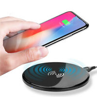 Portable Qi Wireless Fast Charger Pad For iPhone X 8 Plus Samsung Android Lot