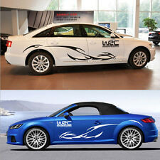 2PCS FULL COLOR CAR SIDE GRAPHICS AUTO WHOLE BODY DECAL RACING STRIPE STICKER