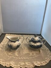 Vintage Johnson Brothers Coaching Scenes Sugar and Creamer Low Start